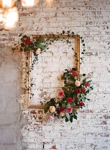 diseños de arreglos florales para pared