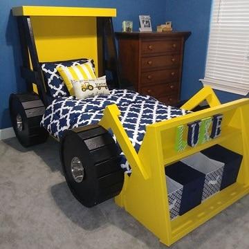 diseños de camas para niños de carro