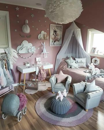 fotos de cuartos para niñas decorados