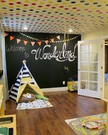 habitaciones con pared de pizarra creatividad