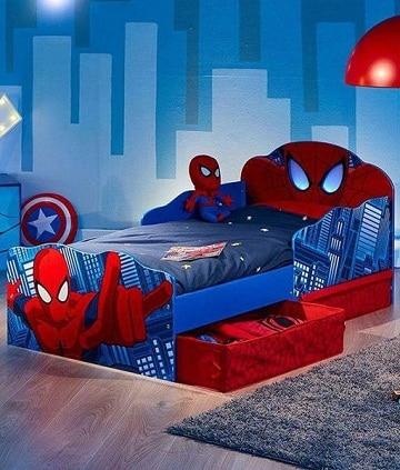 imagenes de camas para niños de spiderman