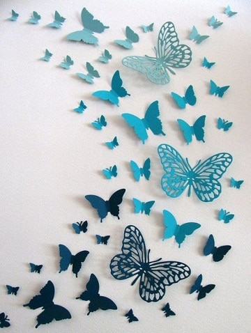 mariposas para decorar paredes plantillas