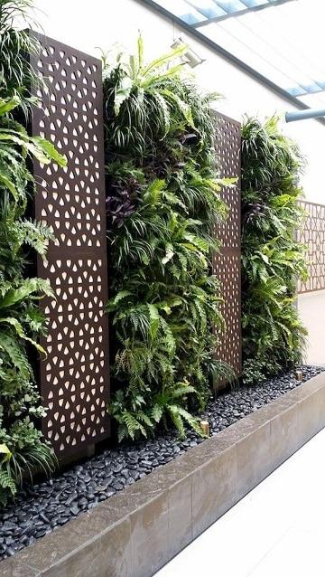 paredes de jardin decoradas modernos