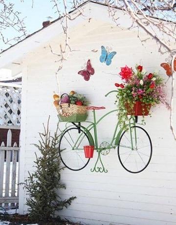 paredes de jardin decoradas pintadas