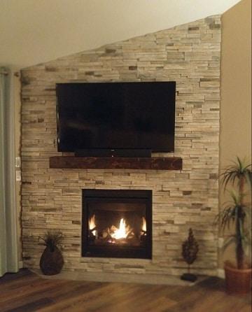 paredes de piedra para salas minimalista