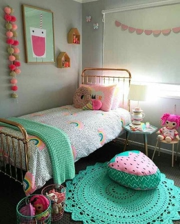 como decorar un cuarto de niña colorido