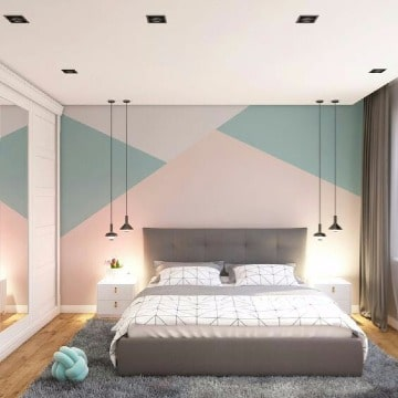 Modernos diseños para paredes de cuartos a 3 tonos - Como decorar mi ...