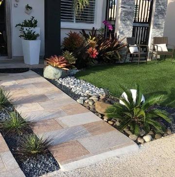 imagenes de jardines de entrada de casa