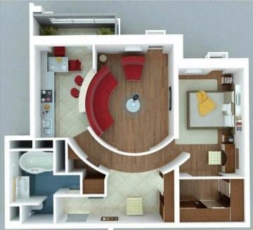 imagenes diseños de departamentos modernos