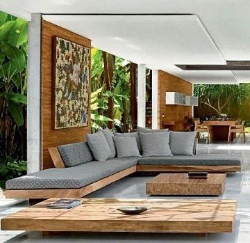 muebles de sala de madera modernos