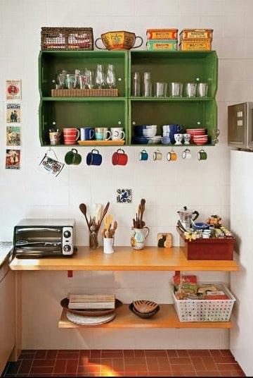 sencillos muebles para cocina pequeña