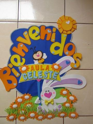 carteles de bienvenida a clases para niños