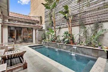 casas pequeñas con piscina moderna
