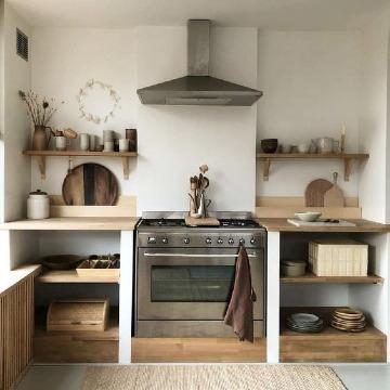 cocinas pequeñas rusticas modernas