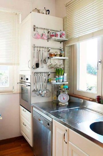 como organizar una cocina pequeña sencilla