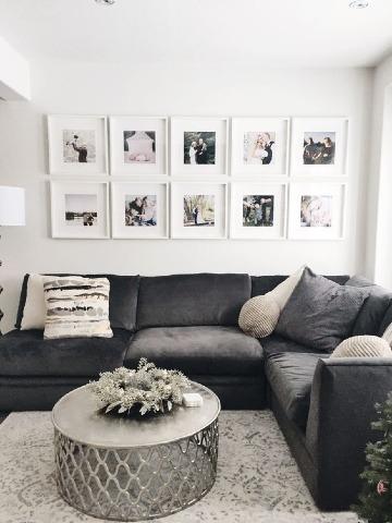 decoracion de paredes de sala con cuadros