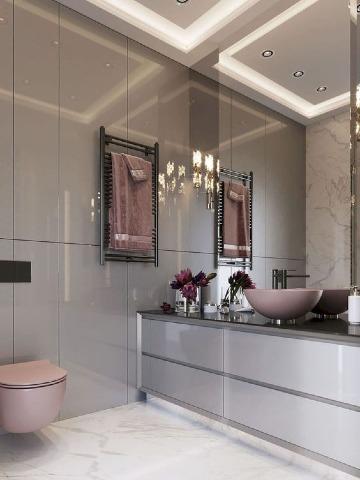 diseños de baños para casas elegantes