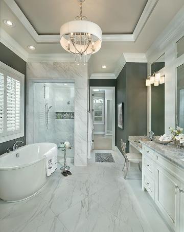 diseños de baños para casas modernas