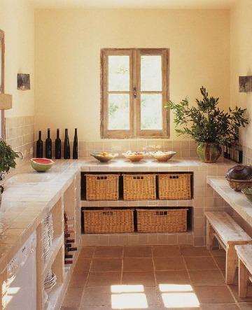 diseños de cocinas pequeñas rusticas