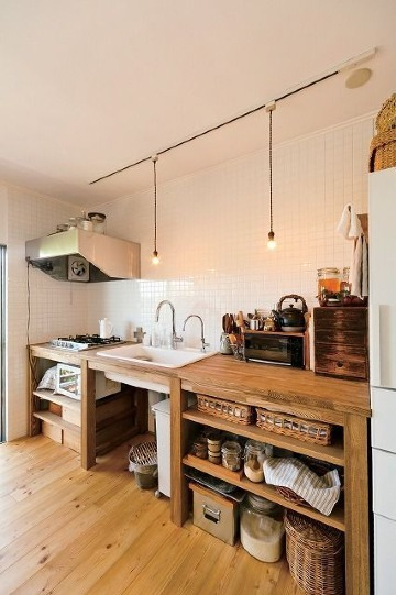 fotos de cocinas pequeñas rusticas