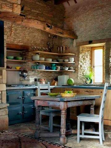 imagenes de cocinas pequeñas rusticas