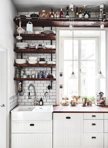 imagenes de como organizar una cocina pequeña