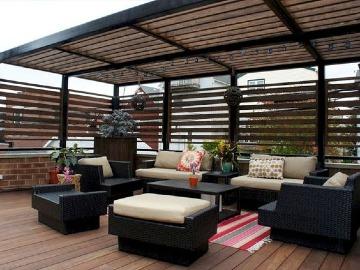 imagenes de techos de madera para terrazas