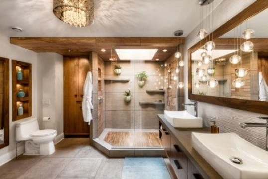 modelos de baños y duchas grandes