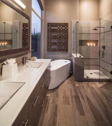 modelos de baños y duchas modernos