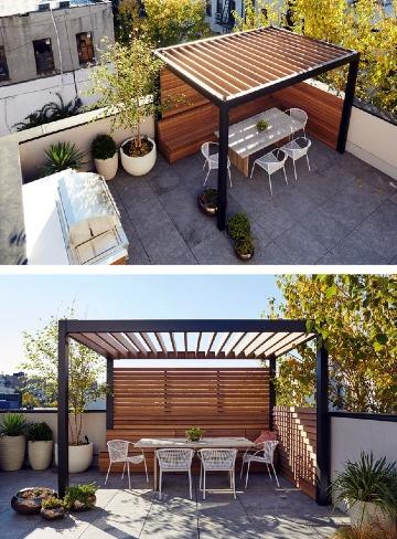 modelos de techos de madera para terrazas
