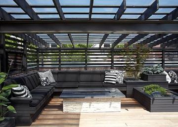 techos de madera para terrazas elegantes
