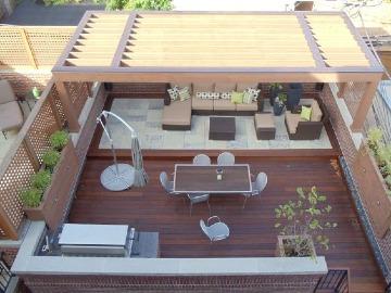 techos de madera para terrazas pequeñas