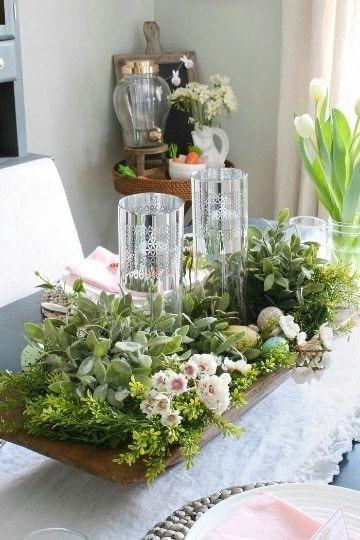 como decorar centros de mesa de comedor