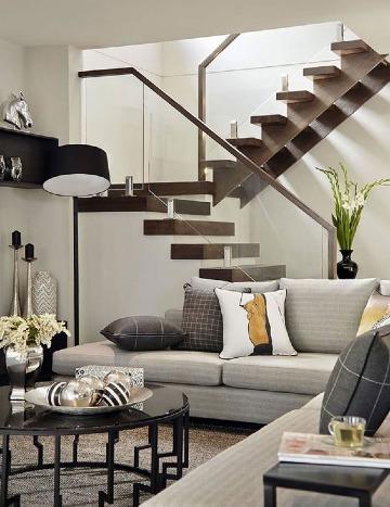 diseños de escaleras para casas de 2 pisos