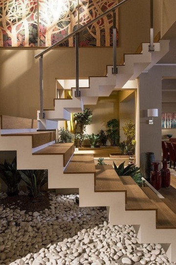 escaleras para casas de 2 pisos modernas