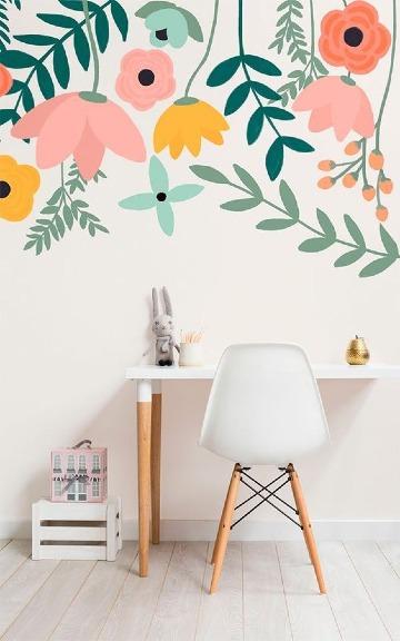 imagenes de paredes pintadas con diseños