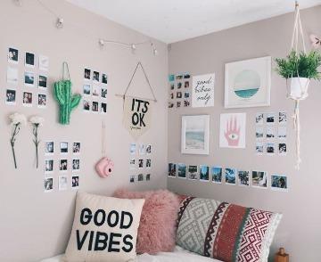 paredes decoradas con fotos habitacion