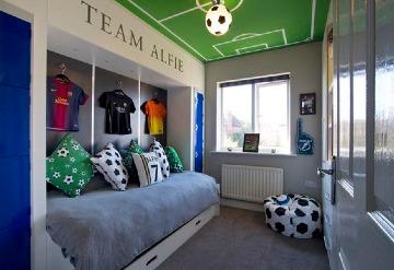 deportiva decoracion de cuartos para niños varones