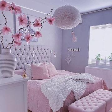 elegante decoracion de cuartos para señoritas