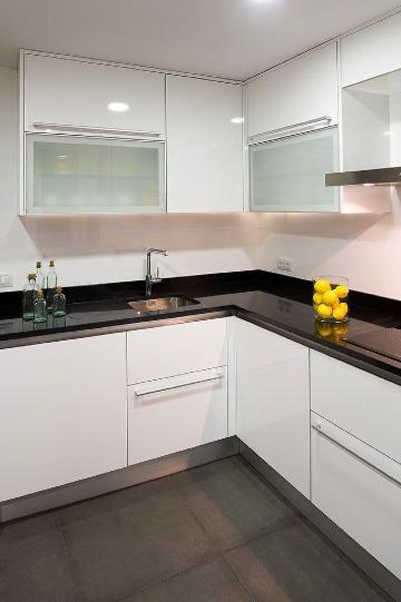 imagenes de muebles de cocina en melamina modernos