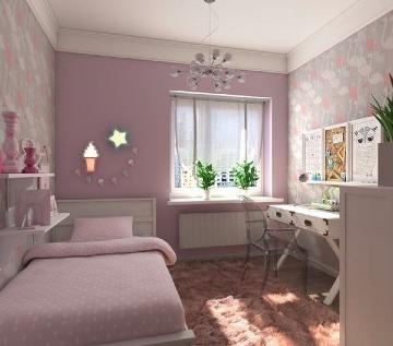 sencilla decoracion de cuartos para señoritas