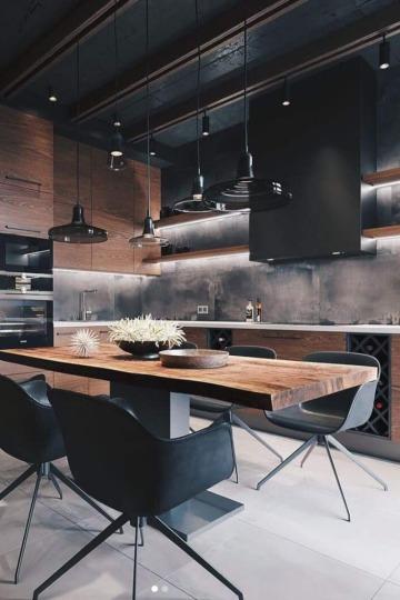 sencillos diseños de cocinas comedor