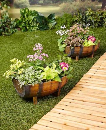 adornos para patios y jardines plantas y flores