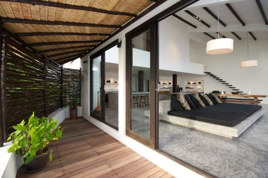 decoración de terrazas interiores elegante