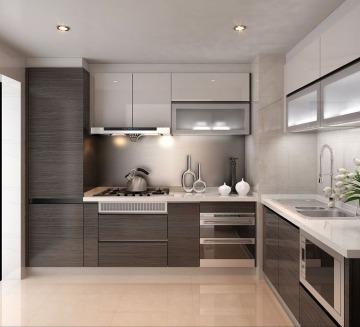 diseños de cocinas de melamina modernas