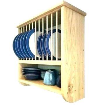 organizador de platos de madera facil de hacer