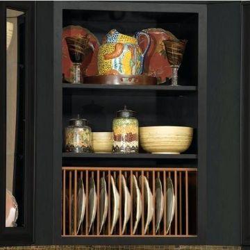 organizador de platos de madera moderno