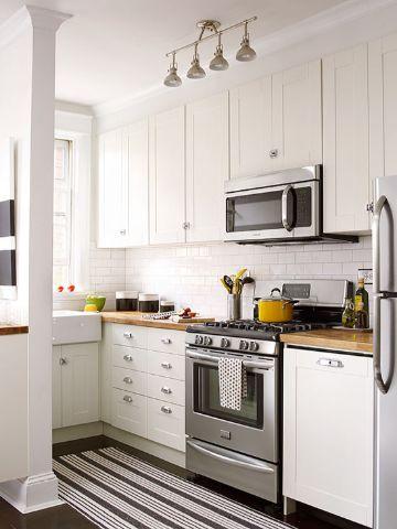 decoracion de cocinas pequeñas y economicas en blanco
