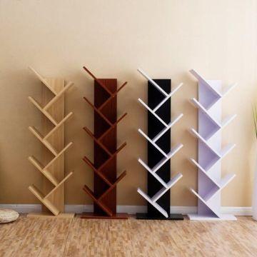 estantes de madera para libros modernos