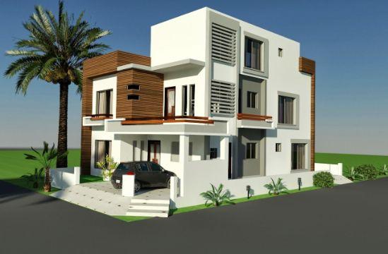 fachadas en esquinas de casas proyecto